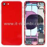 COVER POSTERIORE CON RICAMBI PER APPLE IPHONE 8G 4.7 ROSSO