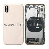 COVER POSTERIORE CON RICAMBI PER APPLE IPHONE XS 5.8 ORO