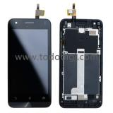 DISPLAY LCD + TOUCHSCREEN DISPLAY COMPLETO + FRAME PER ASUS ZENFONE C ZC451CG Z007 NERO