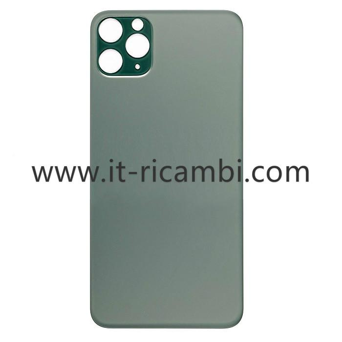 COVER POSTERIORE DI VETRO (MATCH THE CAMERA LENS) PER APPLE IPHONE 11 PRO MAX 6.5 VERDE